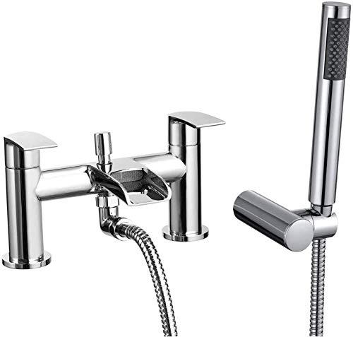 Grifos de Agua Filtro de Agua for baño Mezclador for bañera Grifo Cromado con Cabezal de Ducha de Mano Adecuado for lavabos de Cocina de baño