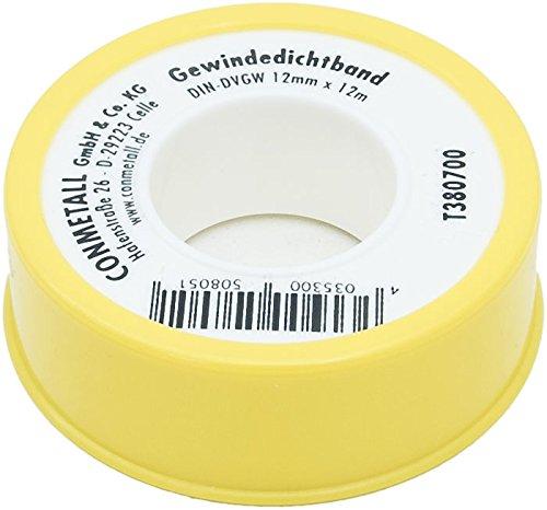 Cornat TP380700 Gewindedichtband DIN-DVGW 12 mm, 5 Stück
