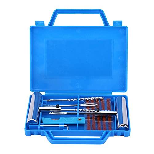 Kit de reparación de neumáticos - 7 piezas Kit de reparación de diagnóstico de neumáticos Juego de herramientas de reparación de pinchazos de neumáticos sin cámara para coches y motos
