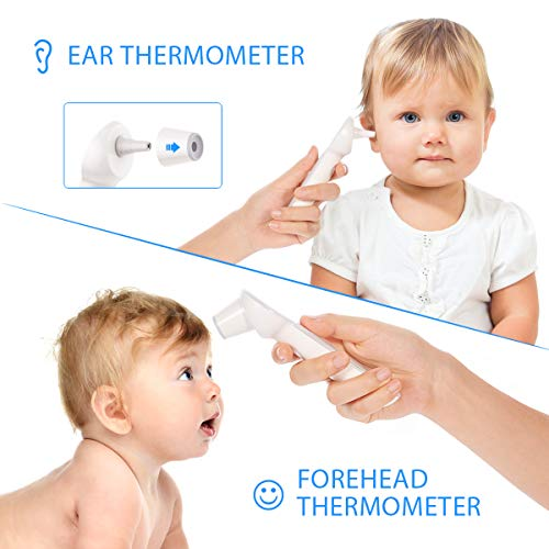 Thermometer for Fever, Waterproof Quick Reading Digital Oral Thermometer with Fever Indicator and Memory Recall Function, Best Accurate Rectum Armpit Thermometer for Baby Kids and Adults