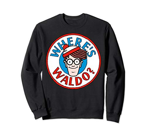 Where's Waldo Head Portrait Circle Logo Sweatshirt