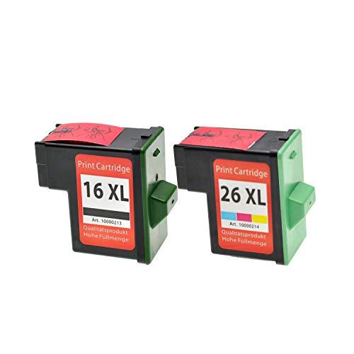 Lógica Seek cartuchos de tinta para Lexmark 16 26 10N0016E 10N0026E, 2-pack