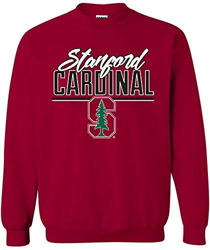 NCAA Stanford Cardinal Script Crewneck Sweatshirt, XX-Large,Cardinal