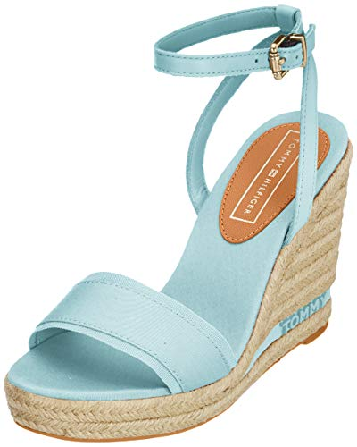 Tommy Hilfiger Iconic Elena Tommy Pastel, Sandalias con Plataforma para Mujer