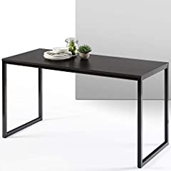 MODERN STYLE & FUNCTION FOR ANY ROOM - Perfect for your home office, bedroom workspace or living area, this clean-lined contemporary desk helps pull together any room in need of a little extra table space BUILT STURDY - Solid steel frame and thick ta...
