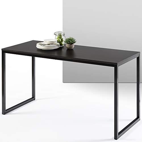 ZINUS Jennifer 140 cm Escritorio para ordenador portátil | Escritorio de estudio para oficina en casa | Montaje sencillo | Estructura metálica | Espresso profundo