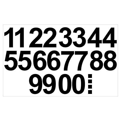 Leicht anzubringende Zahlen Aufkleber 15cm in schwarz glänzend - 20 HOCHWERTIGE KLEBEZAHLEN - selbstklebende Ziffern und Nummern 0-9 - Wasser und wetterfest ideal für den Außenbereich