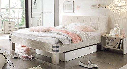 Hasena Factory Line Loft Bett Akazie Vintage White 160x200