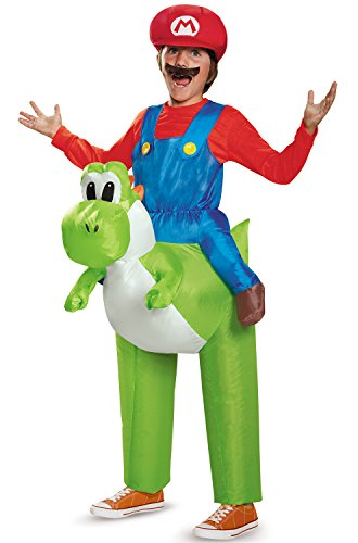 Disguise Mario Riding Yoshi Child Costume - http://coolthings.us