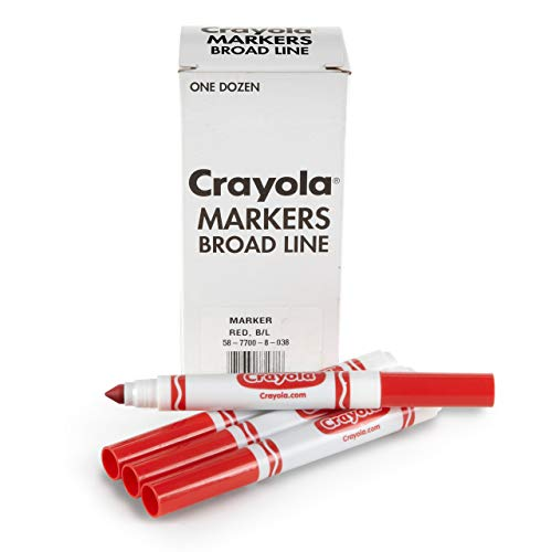 Crayola Red Markers, Broad Line Markers, Refill, 12 Count