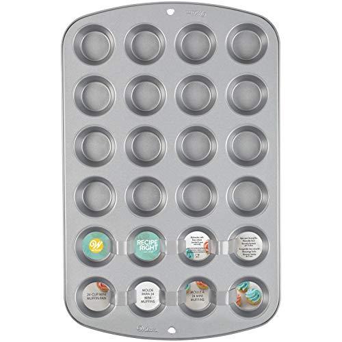 Wilton 03-0-0017 Recept Rechts Mini Muffin Tin, 24 Beker, Niet Stick, Staal