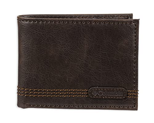 Columbia Leather Extra Capacity Slimfold Wallet