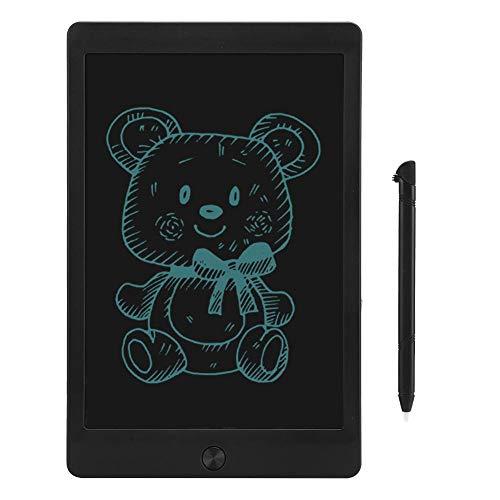 Xuzuyic Tableta LCD de 10 Pulgadas, Adecuada para Que los niños practiquen la Escritura, recordatorios/Notas de Citas (Negro/Blanco)(Negro)