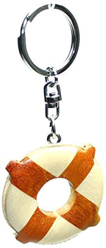 Schlüsselanhänger Rettungsring aus Holz, Schlüssel Anhänger