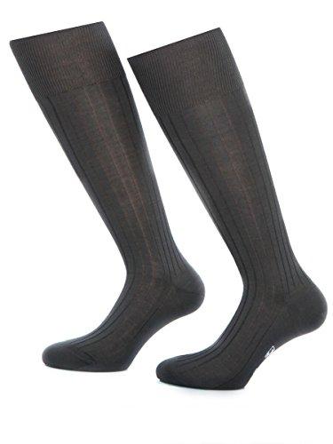 Bruce Field - Chaussettes hautes en fil d'Ecosse 100% coton