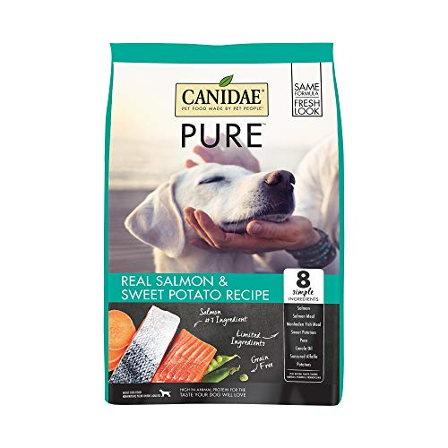 Canidae PURE Grain Free, Limited Ingredient Dry Dog Food, Salmon and Sweet Potato, 4lbs