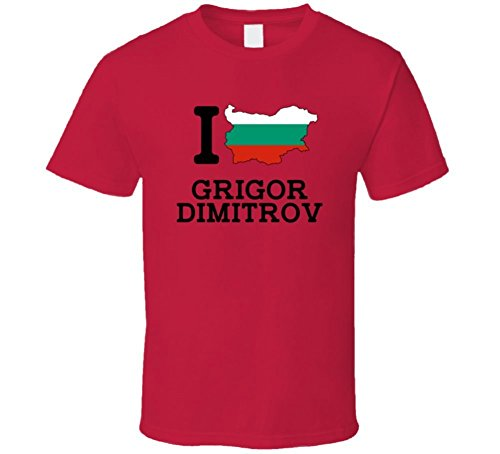 I Love Grigor Dimitrov Bulgaria Tennis Olympics T Shirt XLarge