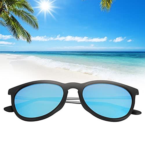 Gafas de sol polarizadas, Hombres Mujeres Lente azul Gafas de sol con bloqueo de rayos UV Accesorios de ropa Gafas de sol polarizadas ligeras Gafas de sol unisex anti-UV Montura de plástico Gafas