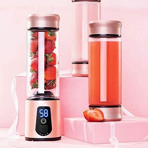 WQF Taza exprimidora USB, exprimidor eléctrico USB portátil de 6 Hojas, licuadora de Frutas y Verduras, licuadora, Extractor de Jugo, licuadora portátil, licuadora de Frutas para el hogar,