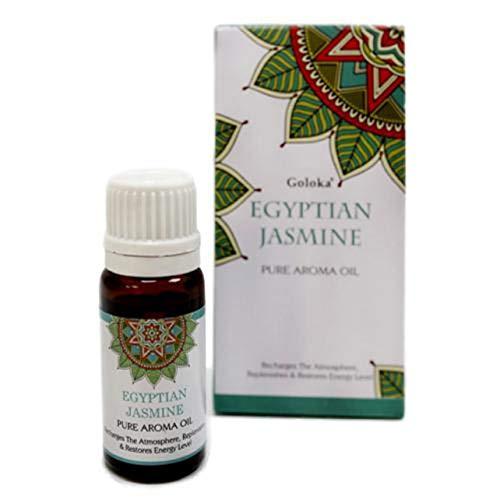 Aceite esencial Jazmín. Bote oscuro de cristal. Tapón de rosca con dosificador. 10 ml