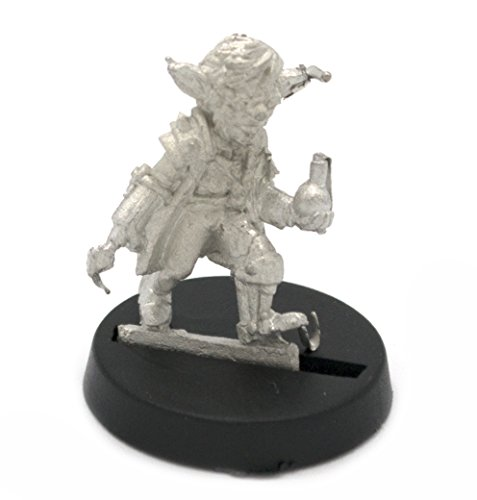 Stonehaven Gnome Mad Scientist Miniature Figure (for 28mm Scale Table Top War Games) - Made in USA