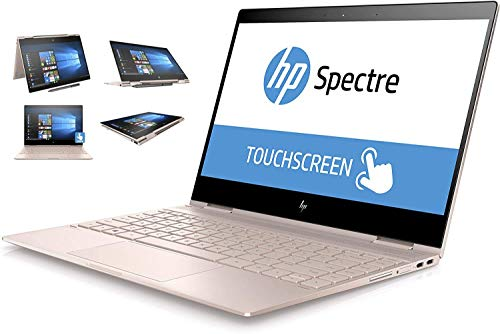 "HP Spectre x360 13t Ultra Light Convertible 2-in-1 Laptop/Tablet (Intel 8th gen Quad Core Processor, 16GB RAM, 1TB SSD, 13.3"" FHD (1920x1080) Touch, Active Stylus Pen, Win 10 Pro) Rose Gold"
