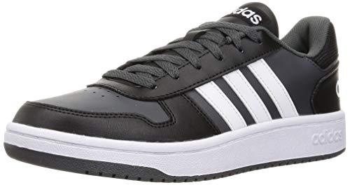 adidas Hoops 2.0, Basketball Shoe Hombre, Core Black/Footwear White/Grey, 42 EU