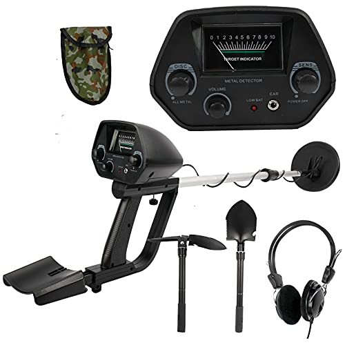 Finderomend Metal Detector MD-4030 Pro Waterproof Metal Detector Underground Search Coil,high Accuracy Adjustable Height (with Headphone and Shovel)