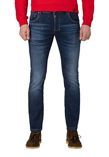 Timezone Herren Slim Scotttz Skinny Jeans, Blau (sea Blue Aged wash 3924), 32W / 32L