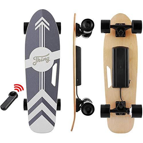 Tooluck Skateboard Eléctrico, Patineta eléctrica con Control Remoto, 20 KM/H, Motor único...