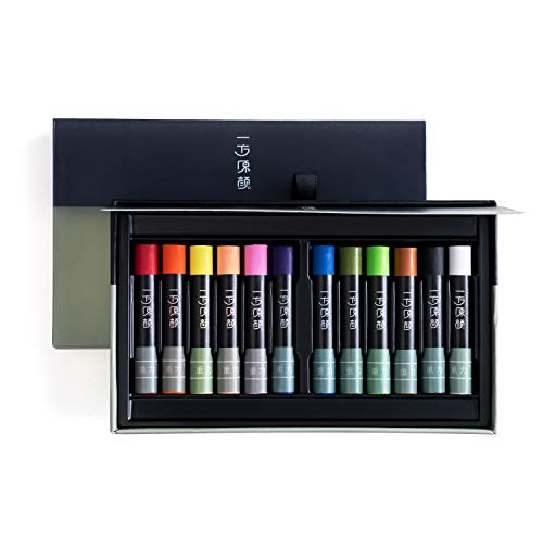HIMI Gravity Oil Pastel 12 Colors, Washable, Bolder, Pastel, Jumbo for Oil Crayon, Smooth Blending Texture for Kids3&up Silky Water-Soluble Art Supplies Suitable Kids/Toddlers/Preschooler/Adults