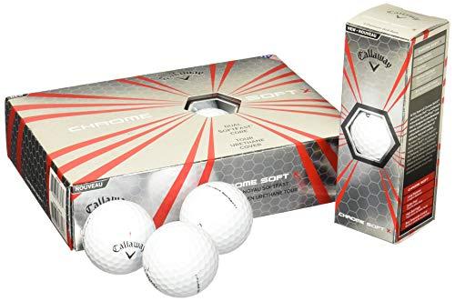 Callaway CG BL Chrome Soft X 12 Golfbälle, Unisex, Weiß, Einheitsgröße