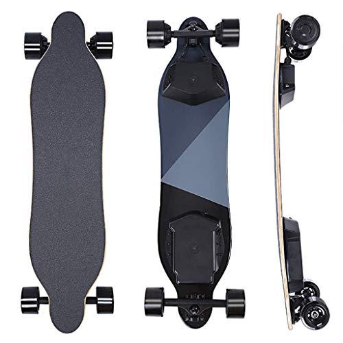 SLM-max Kinder Skateboard Fahren,Elektrisches Skateboard, 25 MPH Höchstgeschwindigkeit, 500 W Motor, 12,4 Meilen Reichweite, 14 Pfund, Bambus + Fiberglas Longboard mit Fernbedienung