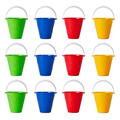 Bramble 12 Cubos de Colores Brillantes - Balde para Niños | Juguetes para Arena y Playa