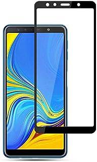 شاشة حماية 5 دي من الزجاج المقوى مع لاصق كامل لتغطية كاملة لشاشة موبايل سامسونج جالاكسي ايه 7 2018 (A750) مقاس 6.0 بوصة 3 ...