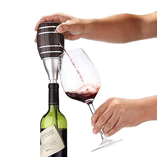 YXYY Juego de Tazas de Sake japonés, Exquisito inflador eléctrico en Forma de Barril, inflador de Vino rápido eléctrico portátil, respirador automático de Botella para Vino Blanco y Vino Tinto 8.8