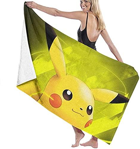 Serviette de bain Pokémon - Grande douceur - Absorbante - À porter à la plage - Sport - Voyage - Style : 2,100 x 200 cm