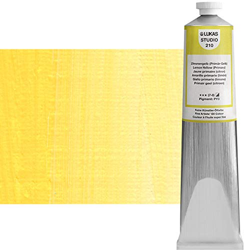 Lukas Studio Oil 200 ml Premium Quality Oil Paint Lemon Yellow