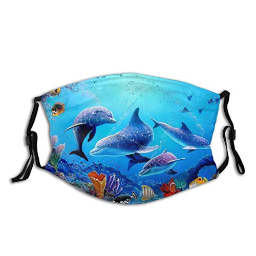Dolphin Tropical Fishes Coral Swim …