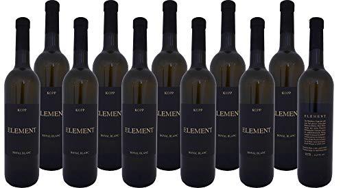 Element Royal Blanc edler Wein (weiß) mit Korkverschluß vom Weinhaus Kopp Pfalz (12 x 0,75l)
