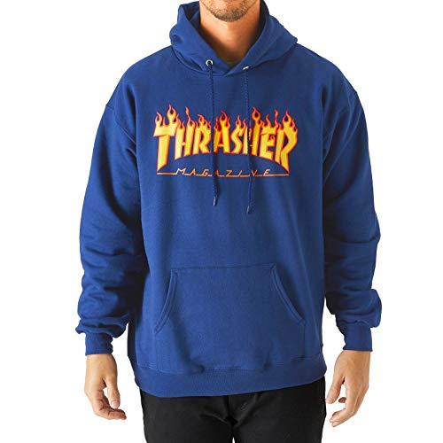 Thrasher Sudadera Flame - Royal - azul - X-Large
