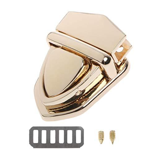 Yushu - 1 serrature di giro, chiusura a torsione, chiusura automatica con fibbia per borse, chiusura in metallo fai da te, per borsa a tracolla borsa, fibbia a portafoglio in metallo
