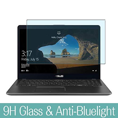 VacFun Anti Luce Blu Vetro Temperato Pellicola Protettiva per ASUS ZenBook Flip UX561 UX561UA / UX561UD / UX561UN 15.6' Visible Area Vetro Screen Protector Filtro Luce Blu(Non Piena Copertura)