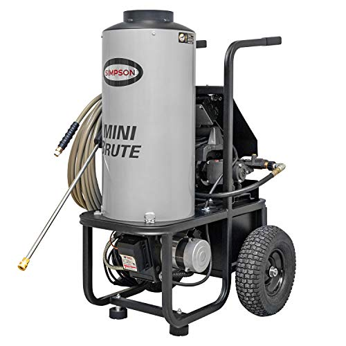 diesel powered pressure washers SIMPSON MB1518 1500 PSI at 1.8 GPM Diesel Fired Hot Water Pressure Washer
