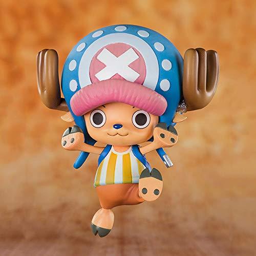 WISHVYQ UNA Pieza Modelo de Anime 20 Aniversario Los Diez Sombreros de Paja Tony Tony Choppe Edición Escultura Decoración Estatua Muñeca Modelo Juguete Altura 7cm