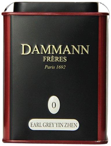 Dammann Freres Loose Leaf Earl Grey Premium Gourmet Black French Tea Bergamot Citrus Flavors 3.52 Ounce Tin