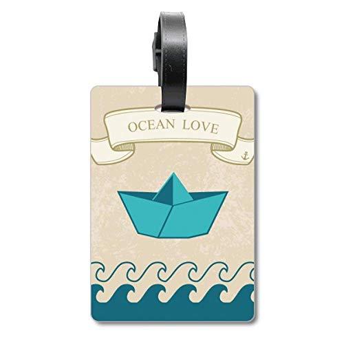 Papier-Faltboot Ocean Love Sea Sailing Cruise Koffer Bag Tag Tourister Identifikationsetikett