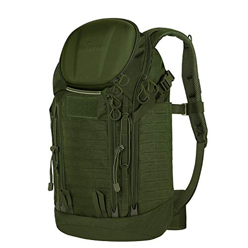 Unigear Tactical Backpacks 900D with MOLLE System, 40L Military Assault Backpacks for 3 Days Hiking, Hunting, Camping(green)