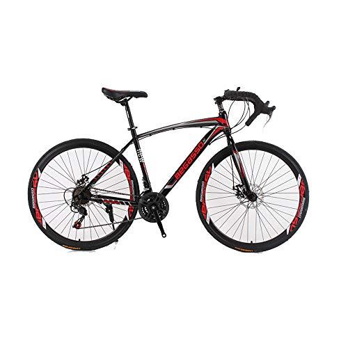 DRAKE18 Scheibenbremse Rennrad 30 Gang 700c mechanische Scheibenbremse Fahrradgabel Federung,Red