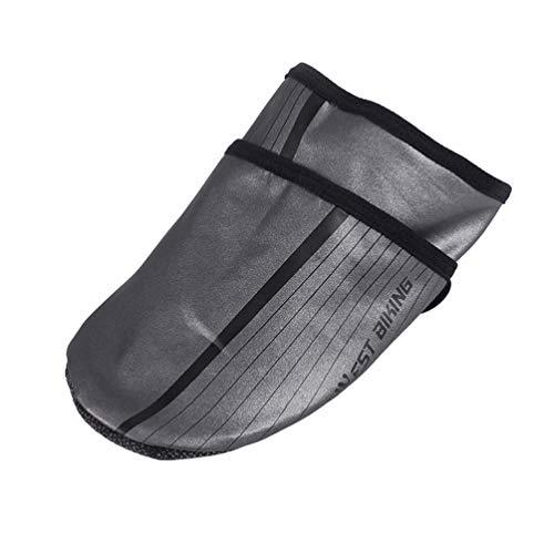BESPORTBLE 1 par de Cubrebotas de Ciclismo Reflectantes Impermeables a Prueba de Viento Cubrezapatos Cubierta de Puntera de Zapato para Ciclistas Bicicletas Tamaño L (Gris Oscuro)